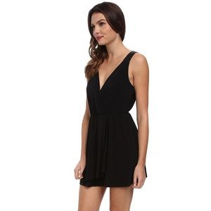 BCBGENERATION Black Faux Wrap Dress